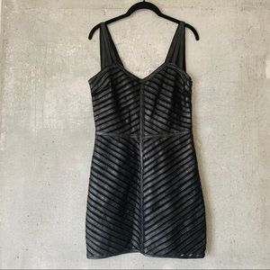 Never worn PARKER - Leather Mesh Panel Dress